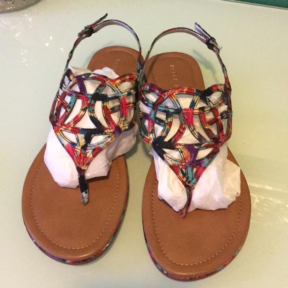 f0d673ff151d multicolored flat thong sandal